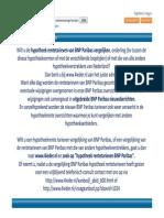 Vergelijking hypotheek rentetarieven BNP Paribas