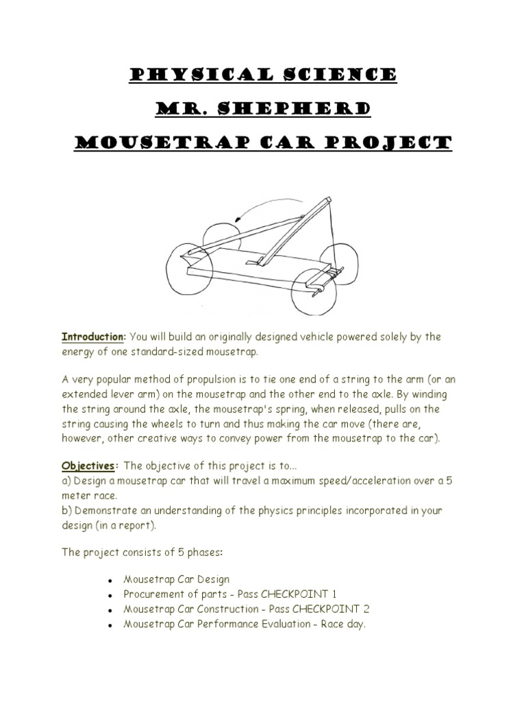 Mousetrap Car Project2 Pdf Torque Lever