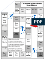Verbs and Other Words Board Game