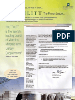 Nutrilie leader in vitmamins, minerals and dietary supplements 2008