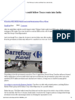Carrefour Could Follow Tesco Route Into India