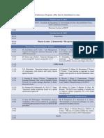 Provisional Program