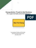Demographischer Wandel - Reaktionen Bad Homburg