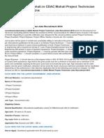 Jobsrecruitment.co.in-recruitmentcdacmohaliin CDAC Mohali Project Technician Jobs Recruitment 2014