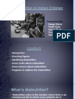 Malnutrition in Indian Children
