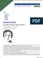 Las palabras del mudo (Marcel Marceau) __ Ladrones de fuego __ Blogs EL PAÍS