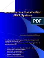 Geomechanics Classification RMR SYSTEM