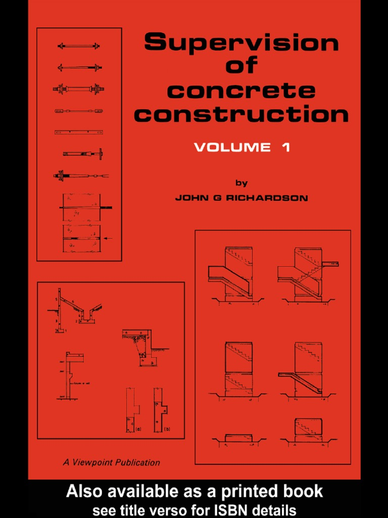 Supervision Of Concrete Construction Viewpoint Publication Series Volume 1   Specification (technical Standard)  Concrete
