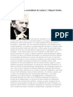 Notas sobre la actualidad de Lukács - Miguel Vedda