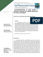 11 Pharmacoepidemiology of Drugs Utilized In
