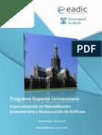 Especializacion en Rehabilitacion Biosostenible y Restauracion de Edificios