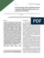 Avaliação do fator de proteção solar em fotoprotetores