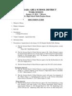 Octorara January 13, 2014 Work Session Agenda