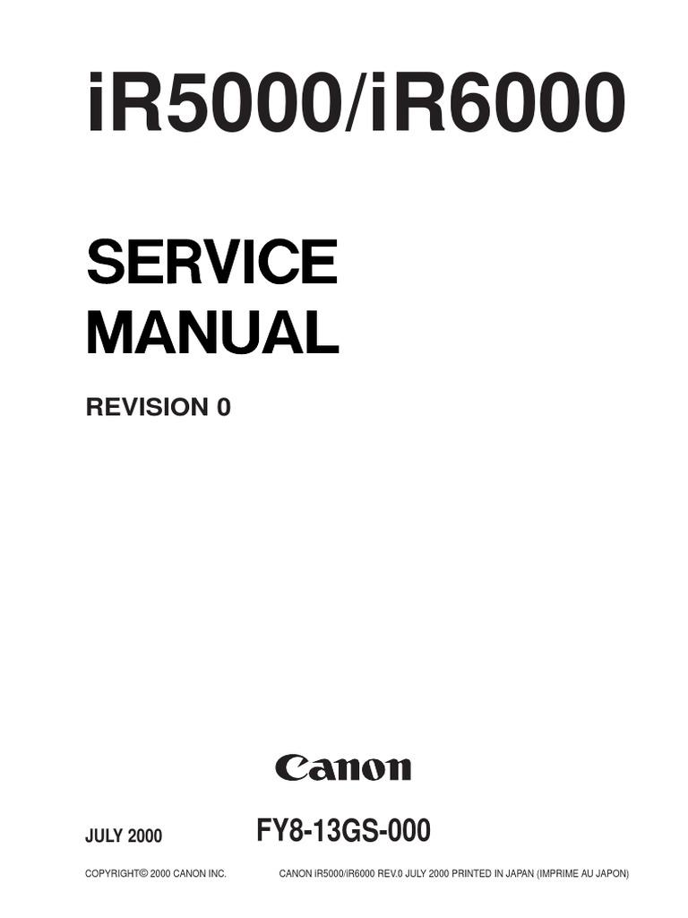 Canon ir6000 service manual free.