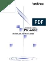 Manual Pr 600ii Es