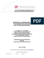 Definitions of Globalization - A Comprehensive Overview and a Proposed Definition