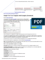 Sample Test Case Template with Examples [Download] — Software Testing Help