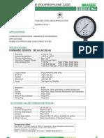 Ac-ss Pressure Gauge (Polypropylene Case)