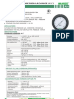 Ah-polypropylene Case Pressure Gauge