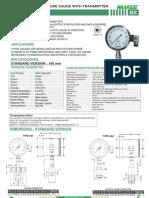 Bz-homogenizer Pressure Gauge With Transmitter