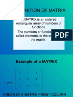 Presentation on Matrices