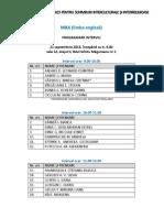 Programare Orara Interviu Mba 2013-2015 Comisiede Admitere