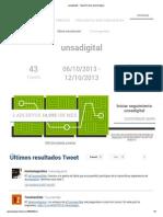 Unsadigital - Tweet Archive and Analytics
