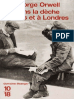 Dans La Deche a Paris Et a Londres - George Orwell