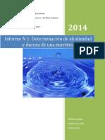 Informe Aguas, Alcalinidad y Dureza Final