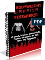 19 Bodyweight Warrior Finishers
