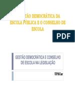 Legislacao_2012 - GESTÃO DEMOCRÁTICA E CONSELHO