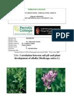 soil pH and alfalfa cultivation