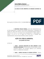 Usina Hidrelétrica de São Luiz do Tapajós – Ação Civil Pública nº 3883-98.2012.4.01.3902 (Petição inicial)