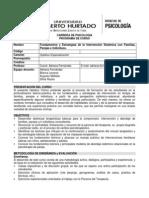 Fundamentos y Estrategias de la Intervención Sistémica con Familias, Parejas e Individuos.
