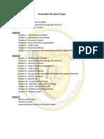 BEA Revision Topics