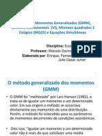 GMM, VI , MQ2S e Equações Simultâneas