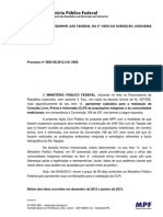 Usina Hidrelétrica de São Luiz do Tapajós – Ação Civil Pública nº 3883-98.2012.4.01.3902 (Subsídios do MPF para Consulta prévia)