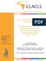 Household Income Concentration in NYC 1990 2010