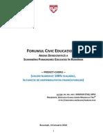 Forumul Civic Educational - Framework Application