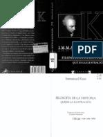 KANT. Filosofía de la Historia