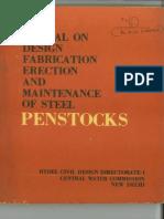 Manual on Design Fabrication Erection Maintenance of Steel Penstock