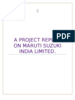 A Project Report on Maruti Suzuki India Limited