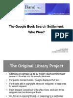Jonathan Band Google Settlement Slides