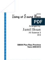 Using of Sound Wave