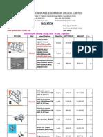 Price List for 8 Pillars for GANESH MUMBAI