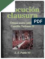 Alocución Clausura Concilio Pablo VI 7-12-65