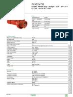 PKX32M735 PratiKa wander plug - straight