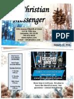 January 12 Newsletter