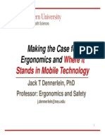 Making the Business Case for Ergonomics and Where It Stands in Mobile Technology - Fall 2013
