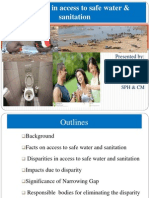 Disparity in Access to Safe drinking Water and Sanitation